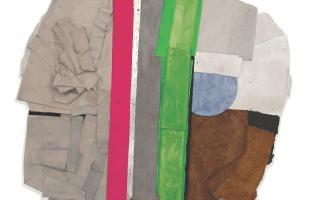 Bruce Dorfman, Bernini's Dream, 2014, combined media, 60 x 60 x 6 inches.