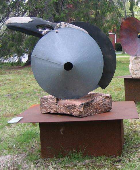 Kiese mixed media sculpture