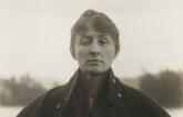 Alfred Stieglitz (American, 1864–1946). Georgia O'Keeffe: A Portrait, 1918. Gelatin silver print, 4¾ x 3⅝ in. (11.9 x 9.2 cm). Philadelphia Museum of Art; Purchased with the Lola Downin Peck Fund, 1978, 1978-91-1.
